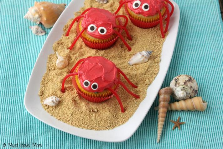 Create fun recipes for a Teen Beach 2 Viewing Party - Crab Cupcakes - SahmReviews.com #TeenBeach2Event #InsideOutEvent