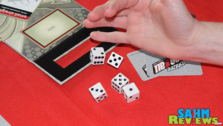 Today's Thrift Treasure is an update of the classic Yahtzee. Not only can you roll straights, full houses and Yahtzees, you can steal them from each other! - SahmReviews.com