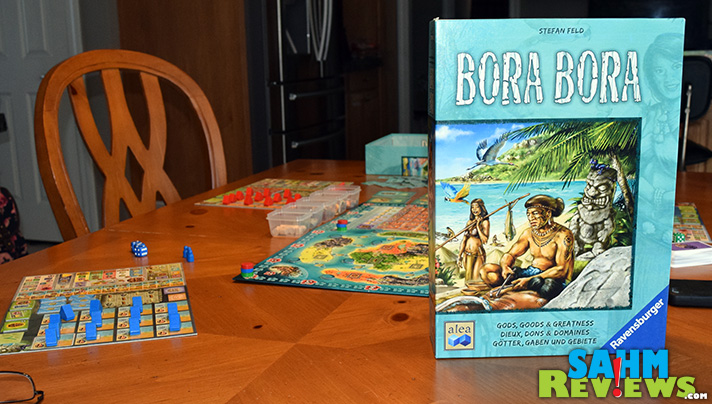 Almost as good as visiting the real thing! We take a look at Bora Bora by Ravensburger and finds out why Stephan Feld is still our favorite designer. - SahmReviews.com