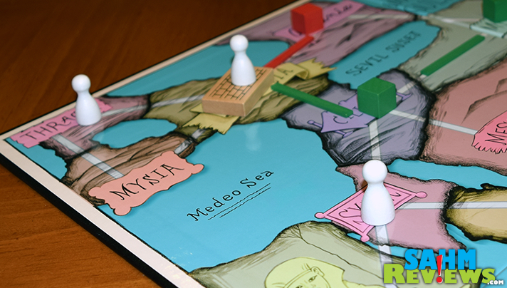 A cross between Catan and Risk, Middle Empire by NateCo took the tried-and-true path of self-publishing. You certainly won't find it in your local store! - SahmReviews.com
