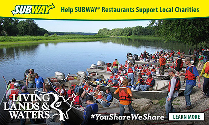 SUBWAY® Restaurants support Living Lands and Waters. - SahmReviews.com #YouShareWeShare