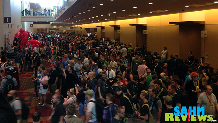 It gets crowded at Gen Con, but they're a friendly bunch. - SahmReviews.com #GenCon