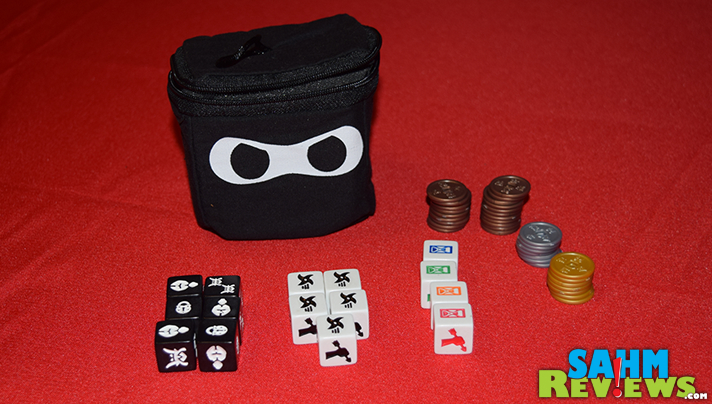 It's time to upgrade our dice game! Ninja Dice from Greenbrier Games takes the push-your-luck mechanic to a new level! And there are ninjas! - SahmReviews.com