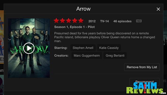 Watch Arrow on Netflix. - SahmReviews.com #StreamTeam
