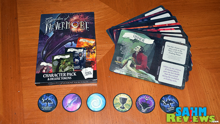 If you like Hearts and Poker, you will love playing Nevermore by Smirk & Dagger Games. It takes the best of both and combines them into one 45 minute game! - SahmReviews.com