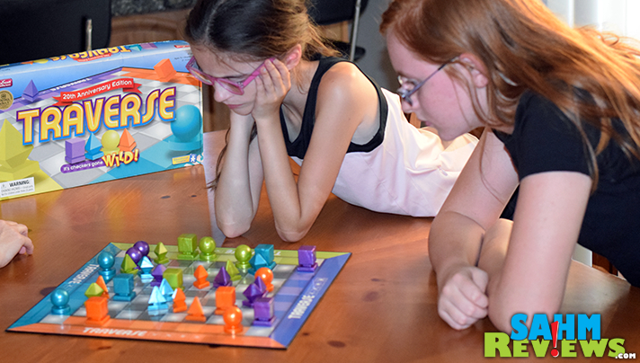 Another 90's era classic, Traverse by Educational Insights was not only a Games 100 winner, but also a Mensa Select National Competition Winner! - SahmReviews.com