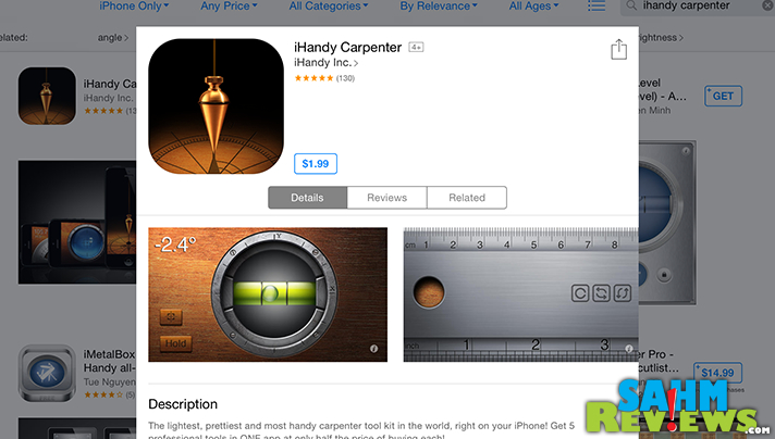 Need to check a level or some other on measure during your DIY project? Try the iHandy Carpenter app. - SahmReviews.com #BetterMoments
