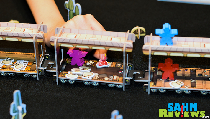 If you build it, they will play! In Colt Express by Asmodee you not only get to build your train, you then get to ride and rob it! - SahmReviews.com