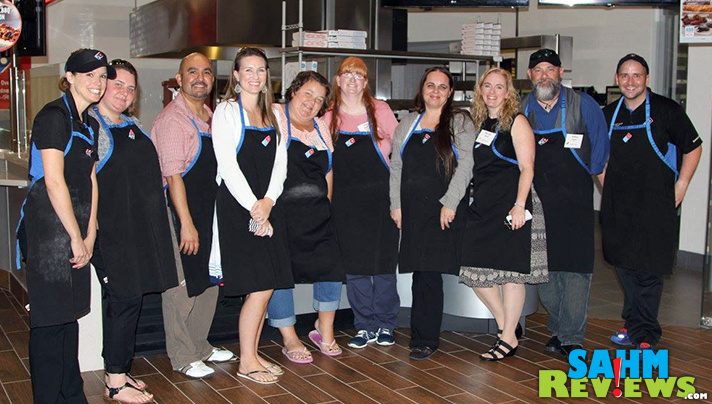 8 bloggers were invited to go behind the scenes during Domino's Blogger Day. - SahmReviews.com #DPZBloggerDay15