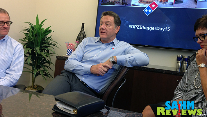 Our voices were heard during a discussion with Domino's executives, including President Patrick Doyle. - SahmReviews.com #DPZBloggerDay15