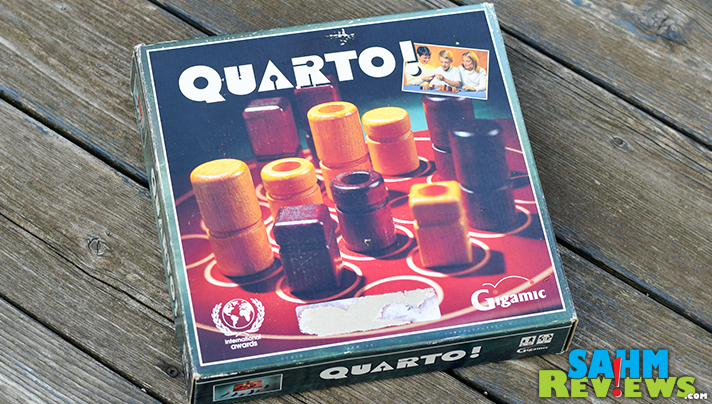 Another wooden game for our collection! Quarto! by Gigamic just about completes our collection, and is just as fun as the others! - SahmReviews.com