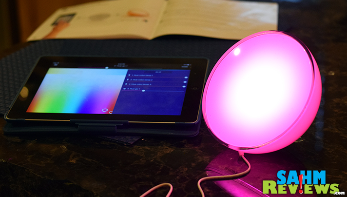 Use the Philips Hue app to change the colors on the Go. - SahmReviews.com #BBYConnectedHome
