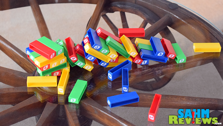 Another attempt at copying the success of Jenga, UNO Stacko was an attempt to capitalize on the success of UNO. It adds some new features, but is it enough? - SahmReviews.com