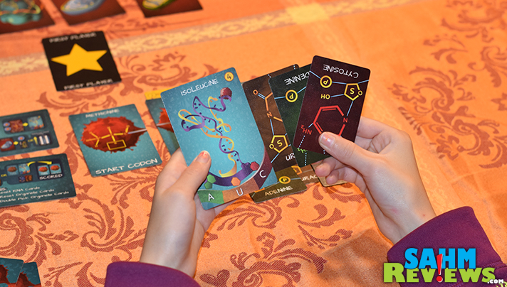 We're always looking for fun ways to introduce STEM lessons, and Peptide by Genius Games allowed us to review things our girls currently study in science. - SahmReviews.com