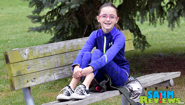 This tween loves Under Armour clothing because it's fashionable AND comfortable. - SahmReviews.com