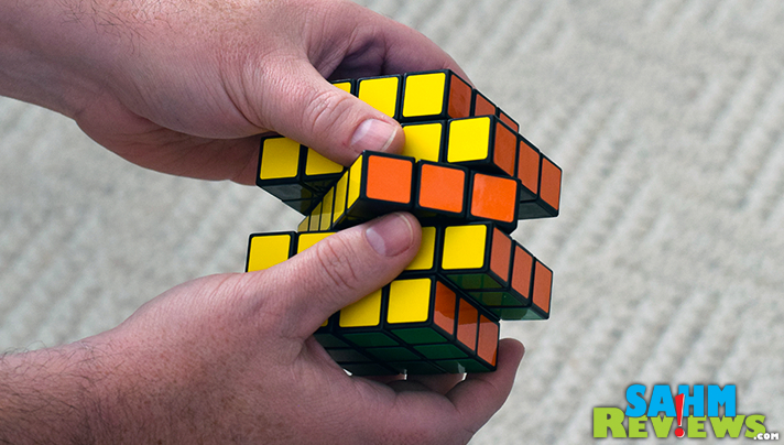 Have trouble with the original Rubik's Cube and wouldn't think of trying the X-Cube? The Boob Cube from Moving Parts might be the perfect puzzle for you! - SahmReviews.com