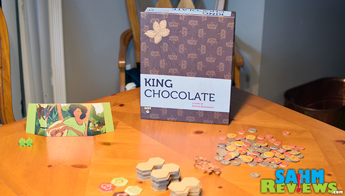 If you've ever wondered how chocolate is made from pod to bar, King Chocolate by Mayfair Games lets you simulate the process in game form! - SahmReviews.com