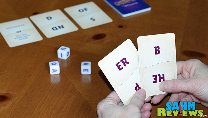 Twirk by Breaking Games puts you in a race to be the first to create an 8-letter word only from the cards and dice displayed. Does your brain work fast enough? - SahmReviews.com