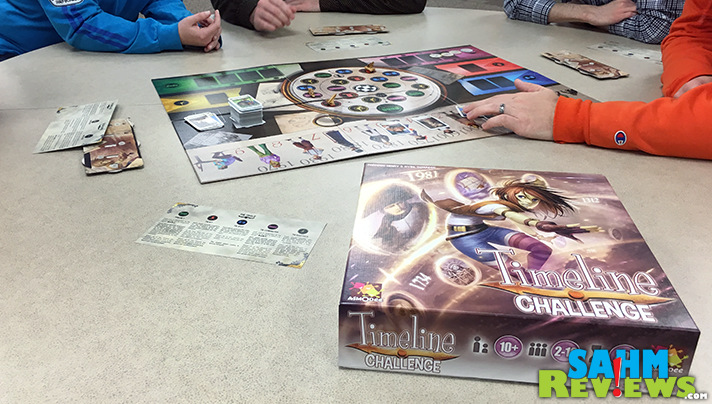 Timeline Challenge by Asmodee includes a board and a variety of different trials and challenges to earn points. - SahmReviews.com