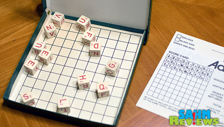 Cool dice and a box to hold them are about the only pieces needed for Duplicate Ad-Lib. - SahmReviews.com