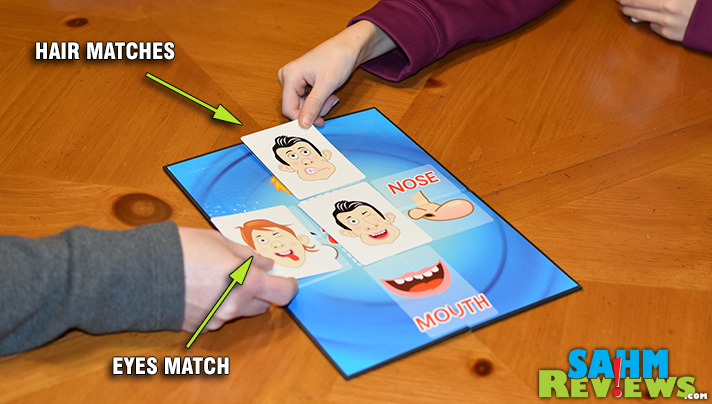 More than a regular matching game, Face Chase by R&R Games has you matching just a part of the target cards. Read more to see how to save face! - SahmReviews.com