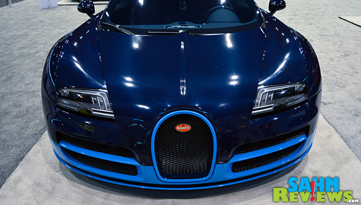 Seeing cars like the Bugatti Veyron is one of 7 reasons to attend the Chicago Auto Show. - SahmReviews.com #CAS16