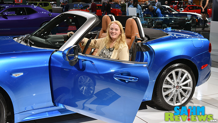 Seeing cars like the Fiat Spider up close is one of 7 reasons to attend the Chicago Auto Show! - SahmReviews.com #CAS16