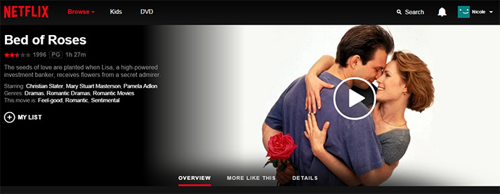 A nice Bed of Roses from Christian Slater for Valentine's Day. Thanks, Netflix! - SahmReviews.com #StreamTeam