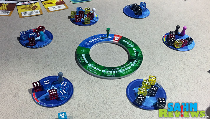 If you want to win Pandemic the Cure, you need to keep the outbreaks under control! - SahmReviews.com