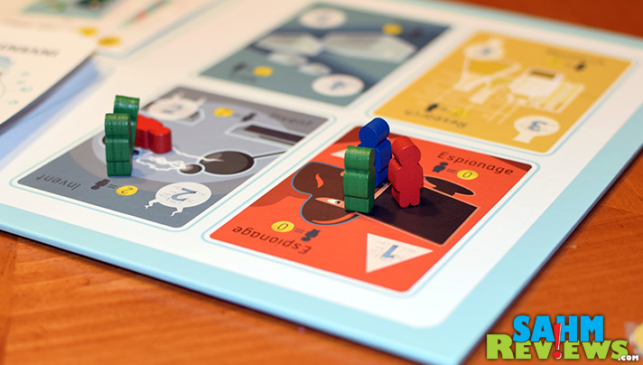Scratch that mad scientist itch with Nefarious by USAopoly. Create your own WMD and employ industrial spies without worrying about hurting anyone! - SahmReviews.com