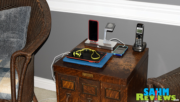 You can charge multiple devices at once, including an Apple watch, with this 3-in-1 charging station. - SahmReviews.com