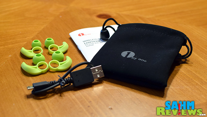 This pair of wireless sport headphones has different sizes available. - SahmReviews.com