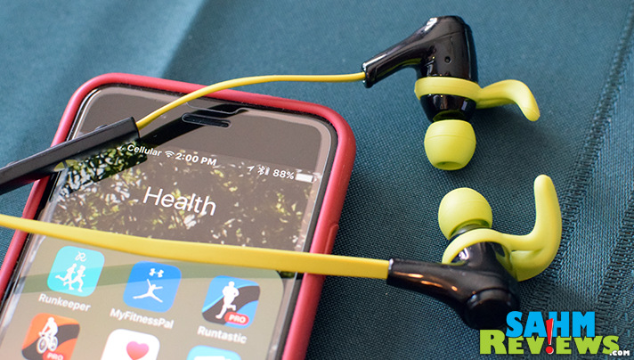 Ever wonder how much battery life your wireless sport headphones have? This pair tells you! - SahmReviews.com
