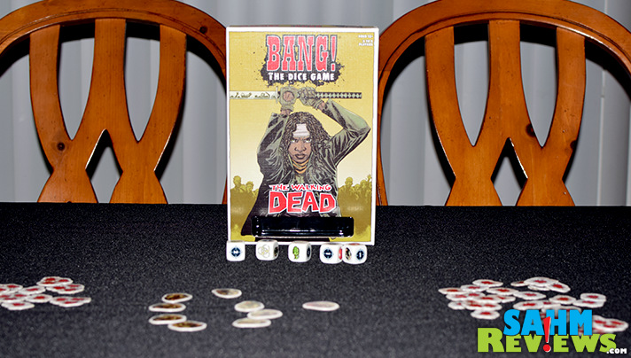 Bang! The Dice Game: The Walking Dead pits survivors and loners against the saviors in a head-to-head battle to the end! Hope you roll lucky! - SahmReviews.com