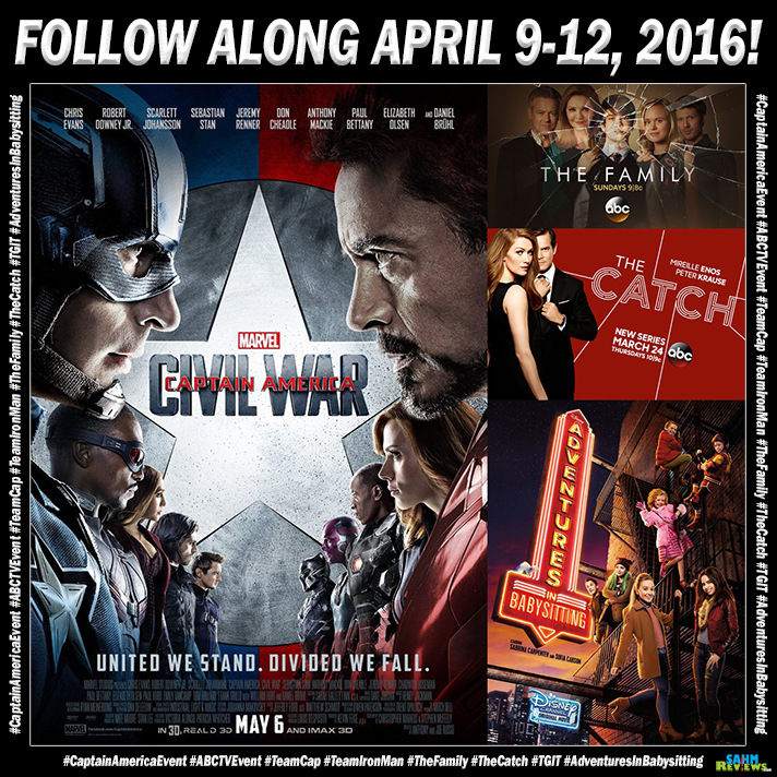 Follow along April 9-12, 2016 when we head to cover the #CaptainAmericaEvent in Los Angeles! - SahmReviews.com