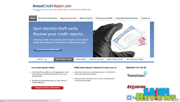 Are you taking advantage and getting your free credit report annually? - SahmReviews.com