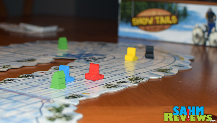 Host your own Iditarod in your home with Snow Tails by Renegade Game Studios! We take a look at this racing game in the warmth of our own house! - SahmReviews.com