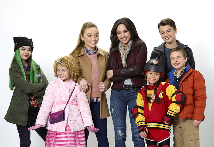 The cast of Disney Channel original movie, Adventures in Babysitting. - SahmReviews.com #AdventuresInBabysitting