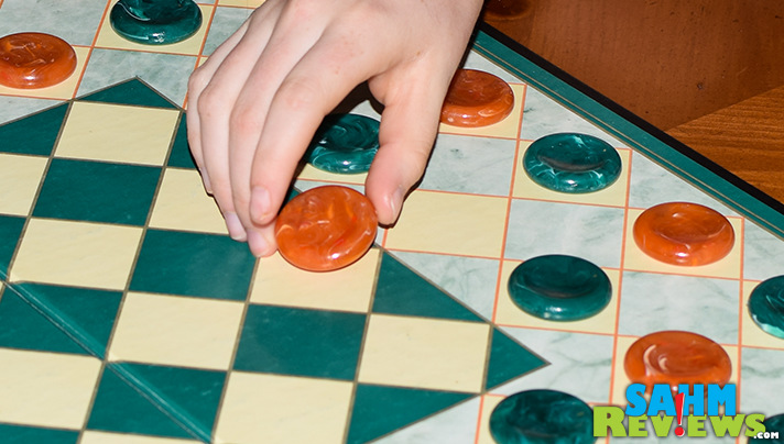 """Another abstract game find at our local Goodwill. King's Court, the """"Original Game of Supercheckers"""" is probably one you'll want in your collection. - SahmReviews.com"""