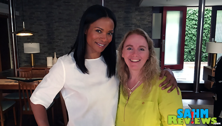 On the set of ABC's hit show The Catch with Rose Rollins. - SahmReviews.com #TheCatch #TGIT #ABCTVEvent