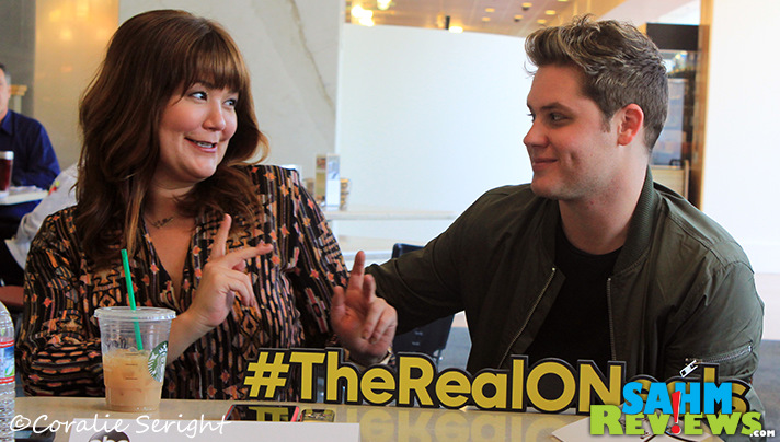 Mary Hollis Inboden & Matt Shively share stories about shenanigans with the cast of The Real O'Neals. - SahmReviews.com #TheRealONeals #ABCTVEvent #CaptainAmericaEvent