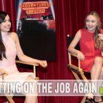 Exclusive interview with Sofia Carson and Sabrina Carpenter for Adventures in Babysitting. - SahmReviews.com #AdventuresInBabysitting #CaptainAmericaEvent