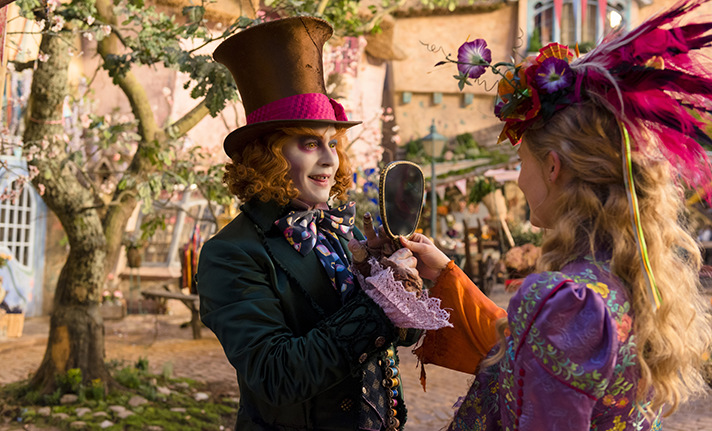 Johnny Depp and Mia Wasikowska star in Alice Through the Looking Glass. - SahmReviews.com