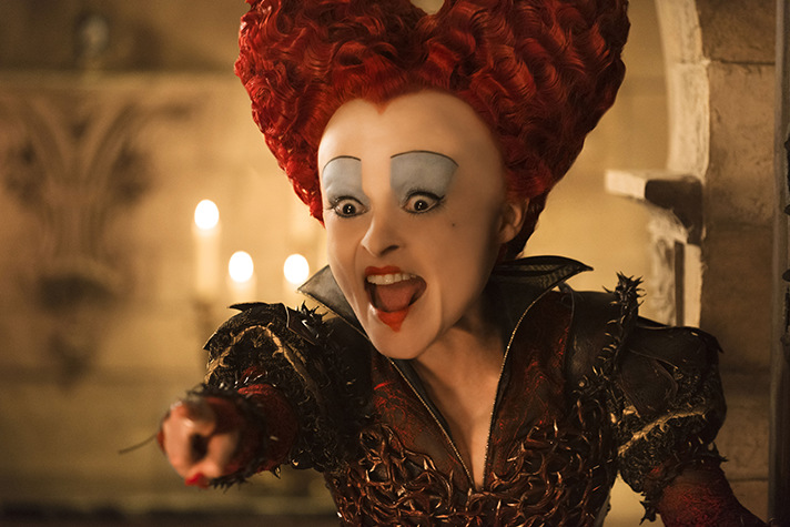 Helena Bonham Carter stars as Iracebeth in Alice Through the Looking Glass. - SahmReviews.com
