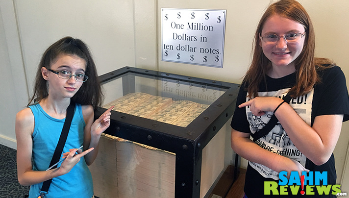 You can see more than a million dollars during the Bureau of Engraving and Printing Tour. - SahmReviews.com