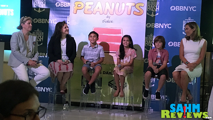 Lunch was sponsored by Peanuts and included talent from the series along with moderator Ginger Zee. - SahmReviews.com #BBNYC