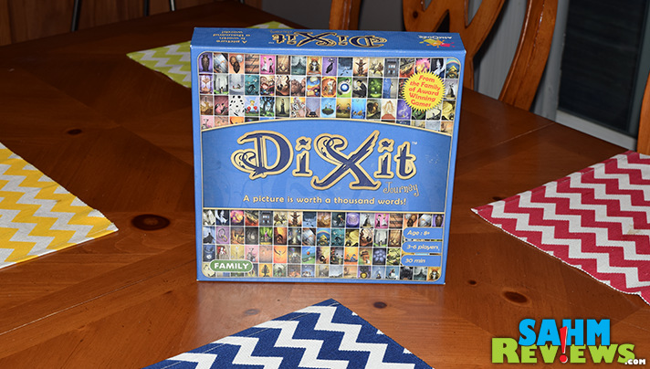 Dixit Journey was one we had played with friends, now we found a copy at a local thrift store! It's in the top 300 on BGG too! - SahmReviews.com