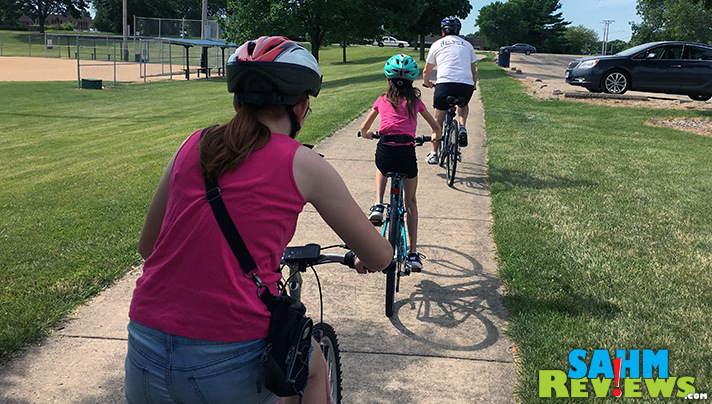 Our first outing with Islabikes was to the park on a family Pokemon Go collection. - SahmReviews.com