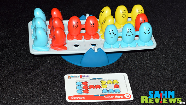 Although designed for younger kids, Balance Beans by ThinkFun still provides some pre-algebra preparation disguised as a game! - SahmReviews.com