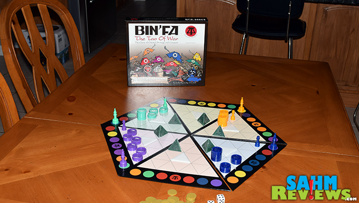 We discovered this abstract game at Origins Game Fair. Little did we know that Bin'Fa was actually a game made over 30 years ago! - SahmReviews.com
